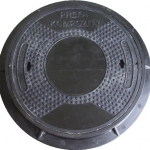 Manhole cover DN 600 A15-D400, with composite frame
