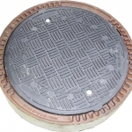 Manhole cover DN 600 D400, with composite frame and seal