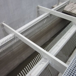 Flood control chambers, Bratislava - double-sided FRP construction of creens