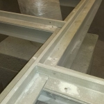 Composite profile frames for installation the PREFAPLATE covers