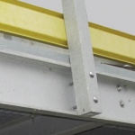 Side anchored railing (anchors/ bolts used)