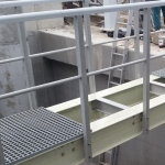 Double web beam used for composite footbridge construction with wider span