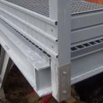 Detail of composite footbridge construction