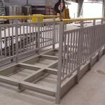 Composite footbridge construction