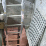 Ladder with composite entry cover - water tank Tři kříže