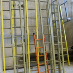 Composite ladders ready for shipping