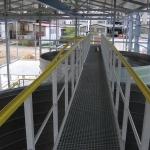 FRP footbridge with railings