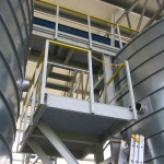 FRP walkways with all-composite bearing construction