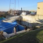 Construction of composite landing