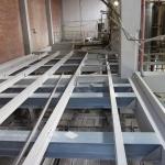 Mondi Štětí - composite supporting structure of a platform