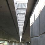 D11 bridge Žíželice - bridge gap cover - composite beams with gratings PREFAPOR - bottom view