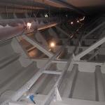 D8 Hraniční bridge - construction of FRP review footbridge