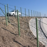 D8 - composite railings with horizontal stainless steel cable