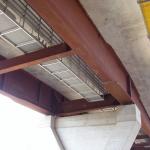 D8 bridge Trmice - FRP review footbridge with cable boxes beneath the bridge deck