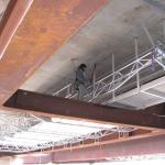 D8 bridge Trmice - construction of FRP review footbridge with cable boxes