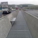 Prague circuit highway - bridge over rivers Vltava and Berounka - bridge gap cover - assembled gratings PREFAPOR