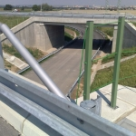 Prague circuit highway - Vestec - FRP railings with horizontal stainless steel cable