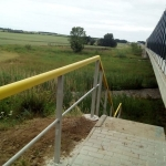 Prague circuit highway - Vestec - composite railings by escape stairs
