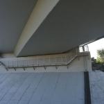 Servicing composite footbridge of bridge support with railing - bridge Budča, Slovakia