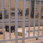 Construction of composite railings with vertical interior bars