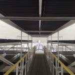 Power station Počerady - composite footbridge and eliminator frames