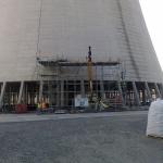 Power station Počerady - composite eliminator frames in cooling tower
