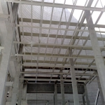 Power station Počerady - preparation for the installation of footbridges