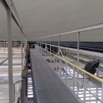 Power station Počerady - covering of inlet troughs with composite gratings