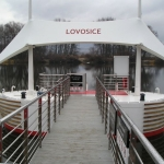 Lovosice, pierce on river - composite assambled gratings PREFAPOR at the footbridge