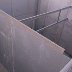 WWTP Ivanovce - GFRP scumboard - lateral view