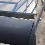 Sedimentation tank Nová Ves - detail of composite scumboard