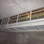 Přízřenický weir Brno - composite walkway at reservoir