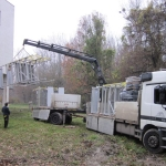 Water source Sihoť Bratislava - composite utility landing - constructions