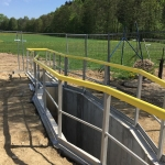 WWTP Hriňová, Slovakia - composite segmented railings