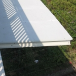 D8, bridge over railway, Trmice - composite covers as an anti-contact protection on the bridge
