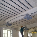 Faculty of science Brno - reinforcement of the ceiling structure with carbon lamellas PREFACARB