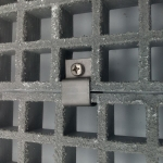 Moulded gratings anchoring
