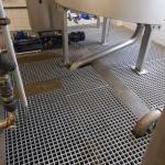 Moulded gratings PREFAGRID in technological premises