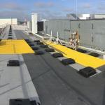 Roof footbridge - moulded gratings PREFAGRID