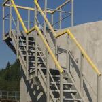 Construction of composite staircase - WWTP Hriňová, Slovakia