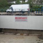 Scumboard in rainwater sedimentation tank