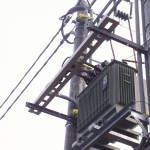 Composite cable run on transformer station