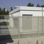 Non-conductive fence - transformer station