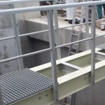 Double web beam (DWB 280) used for composite footbridge construction with wider span