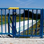 Railings with wicket in customer colors