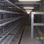 Kompozitní stojiny s výložníky, kabelové lávky a nosiče horkovodů - Kolektor Centrum Ostrava