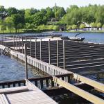 Kamencové jezero - výstavba konstrukce mola z kompozitních profilů