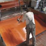 Výroba dílce komína metodou stříkání