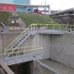 SAKO Brno - kompozitní schodiště a lávky