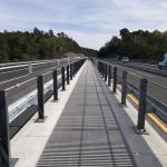 D1 - Soutice - Loket - zakrytí zrcadla mostu kompozitními skládanými rošty PREFAPOR - celkový pohled